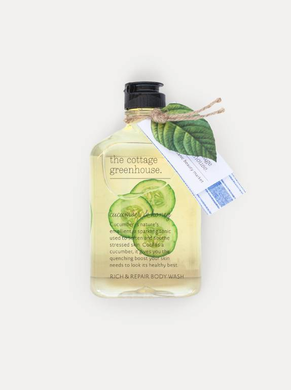 The Cottage Greenhouse Cucumber & Honey Rich & Repair Body Wash