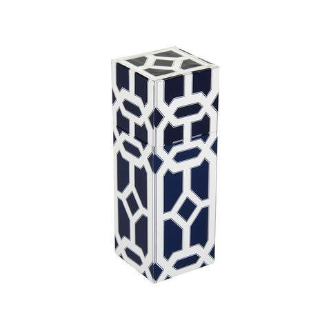 The Joy of Light Navy Lattice Matchbox