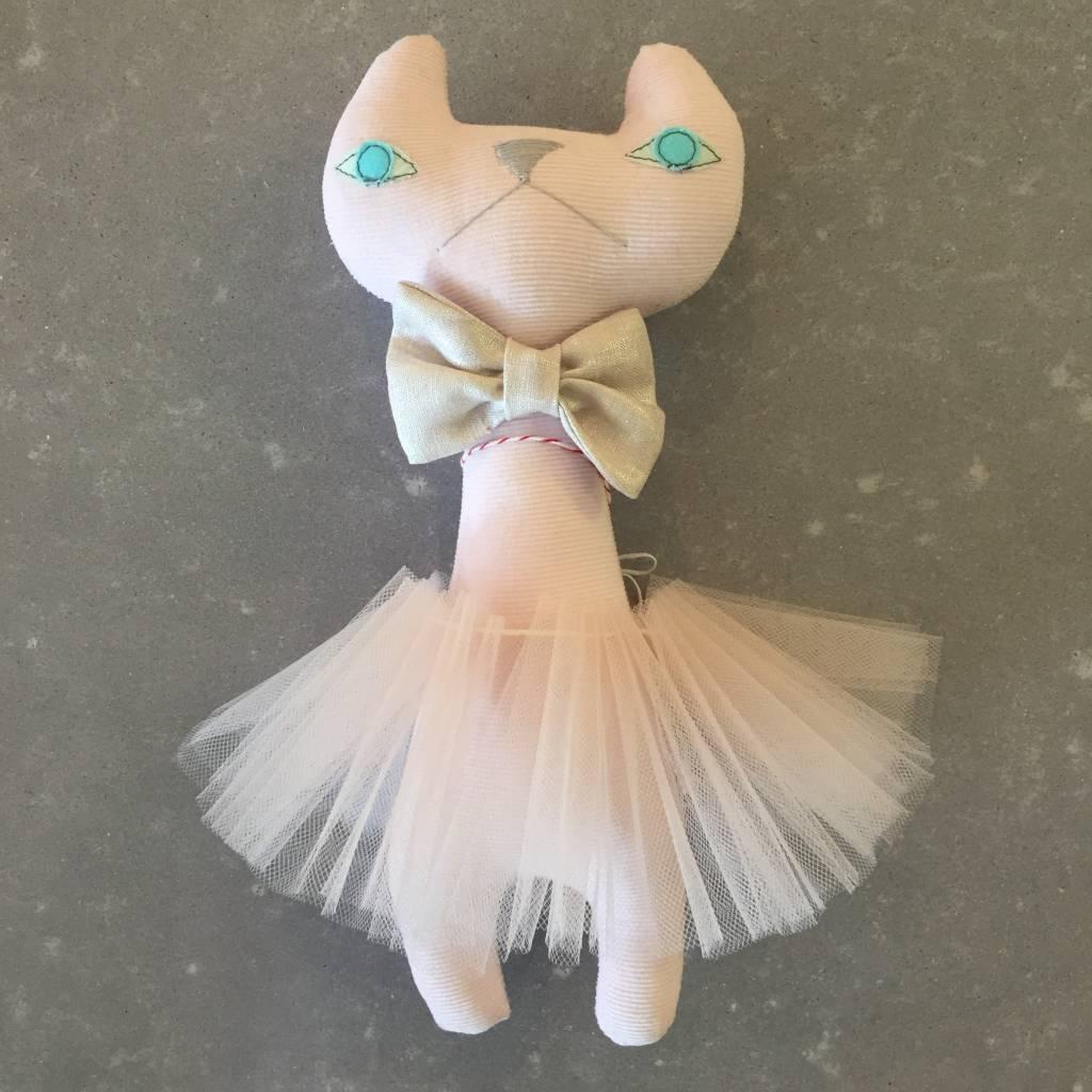 H Luv Cat w/ Bow Tie & Tutu