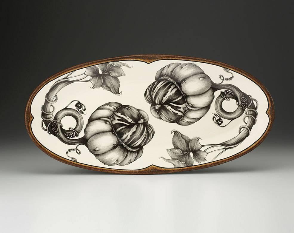 Laura Zindel Design Fish Platter: Turk Gourd