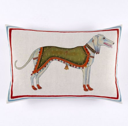 John Robshaw Dog Decorative Pillow