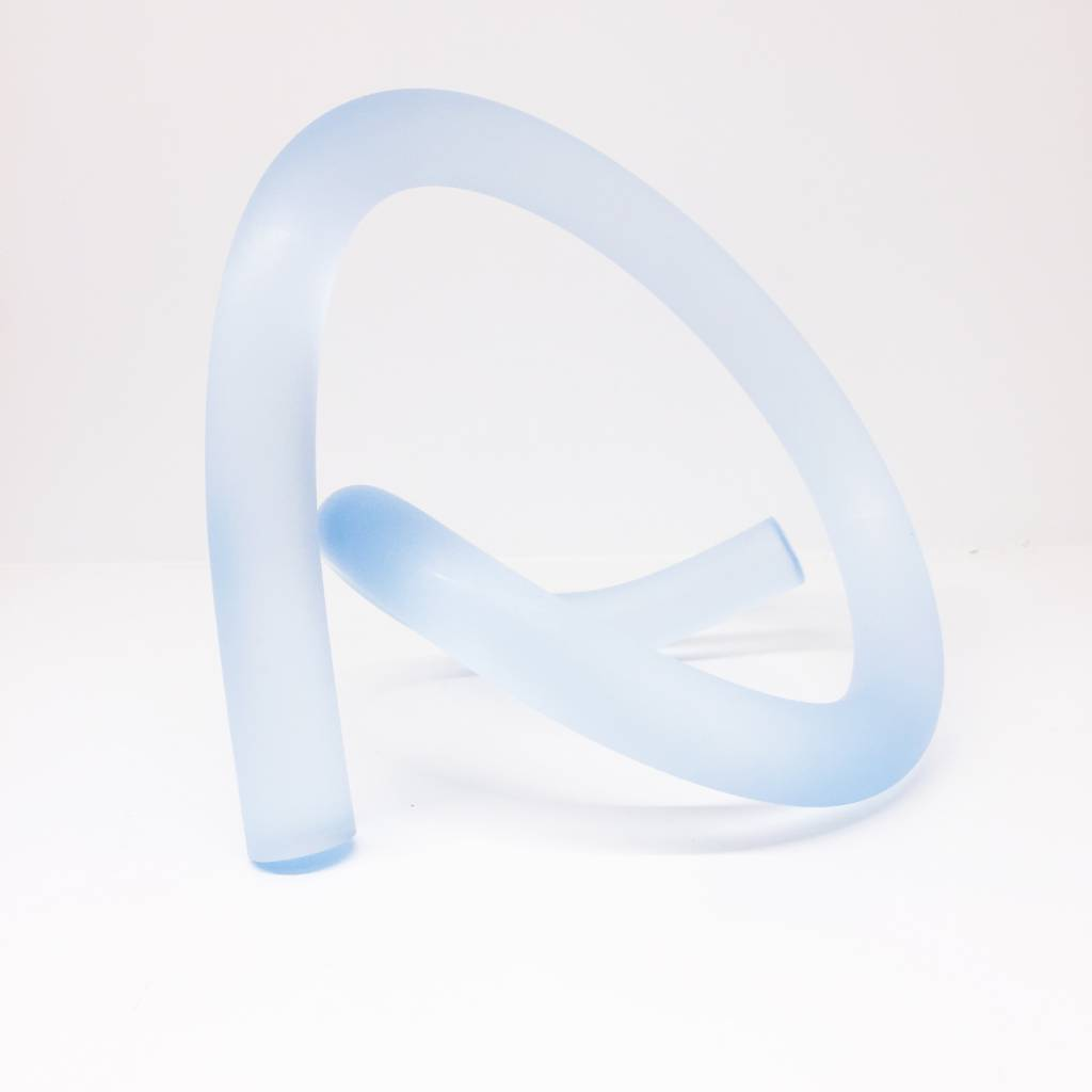 Somar Creations Light Blue Frosted Acrylic Sculpture