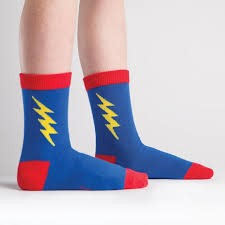 Sock It To Me Junior Crew Super Hero!