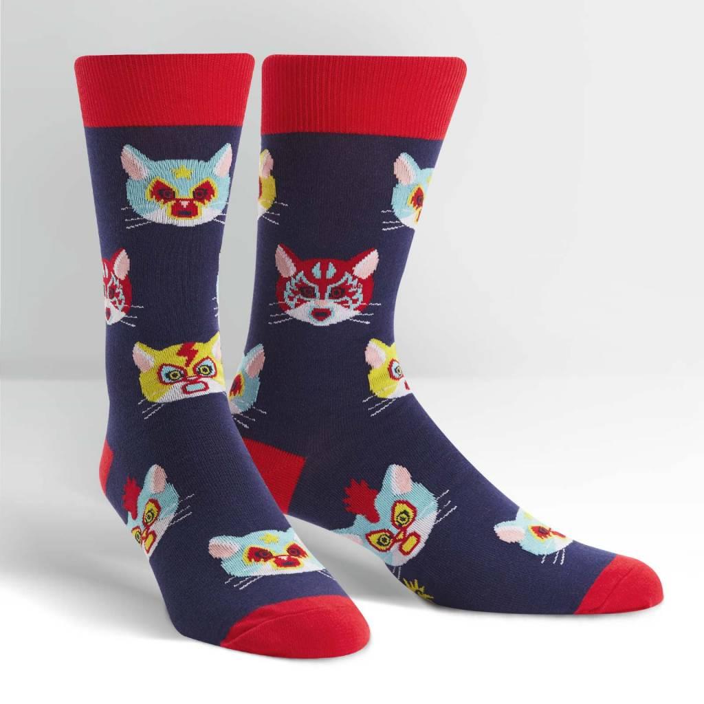 Sock It To Me Men's Crew Gato Libre