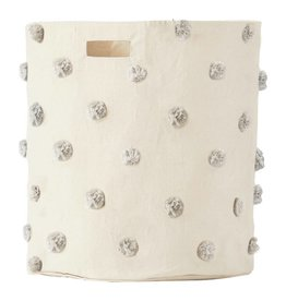 Pehr Designs Hamper Pom Pom Grey