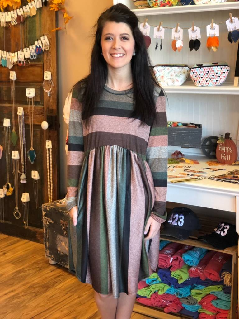 True Stripes Dress Plus