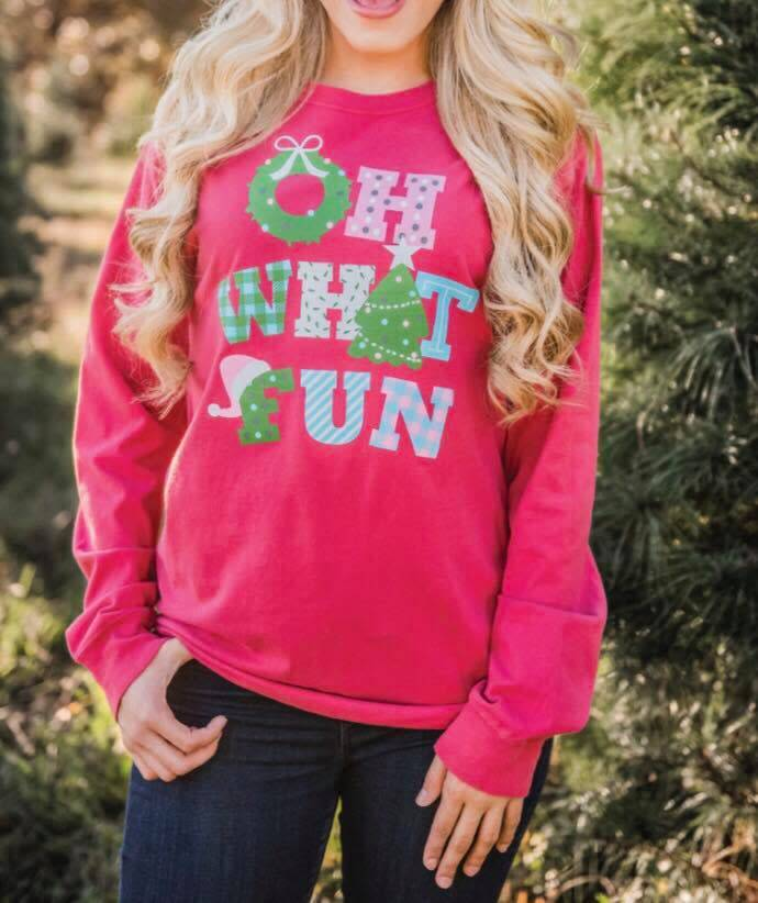 Oh What Fun Long Sleeved Tee