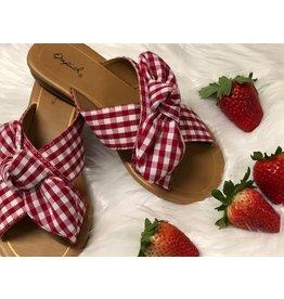 Little Gingham Sandal