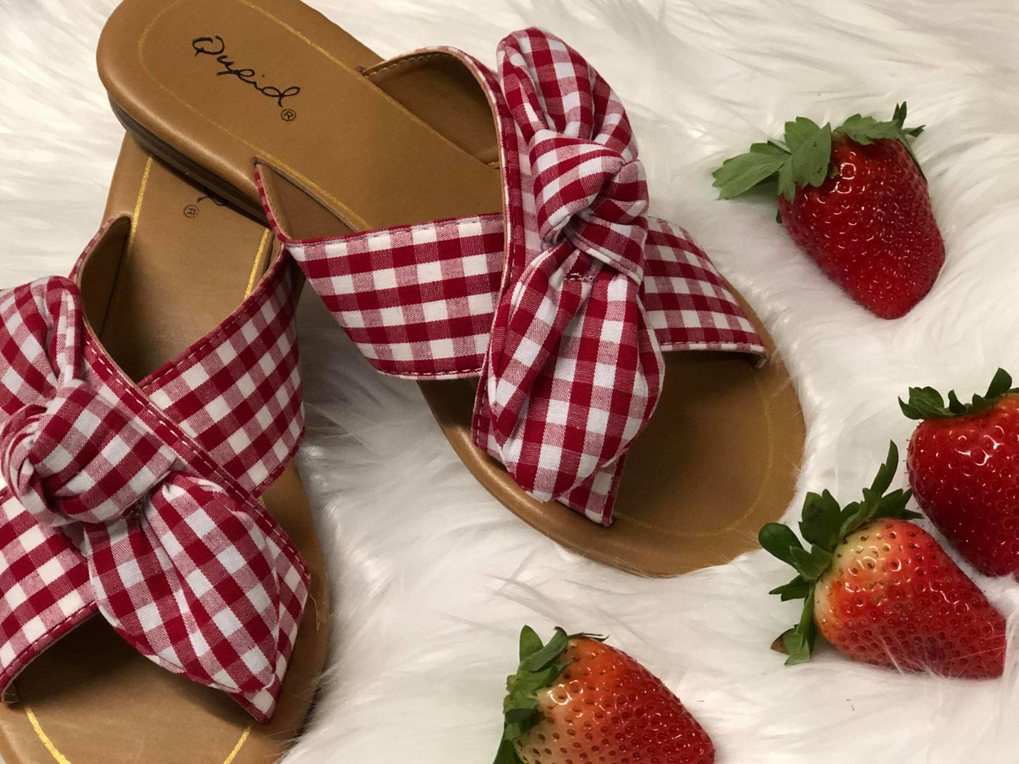 Little Gingham Sandal