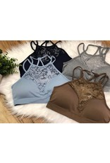 High-Neck Lace Bralette