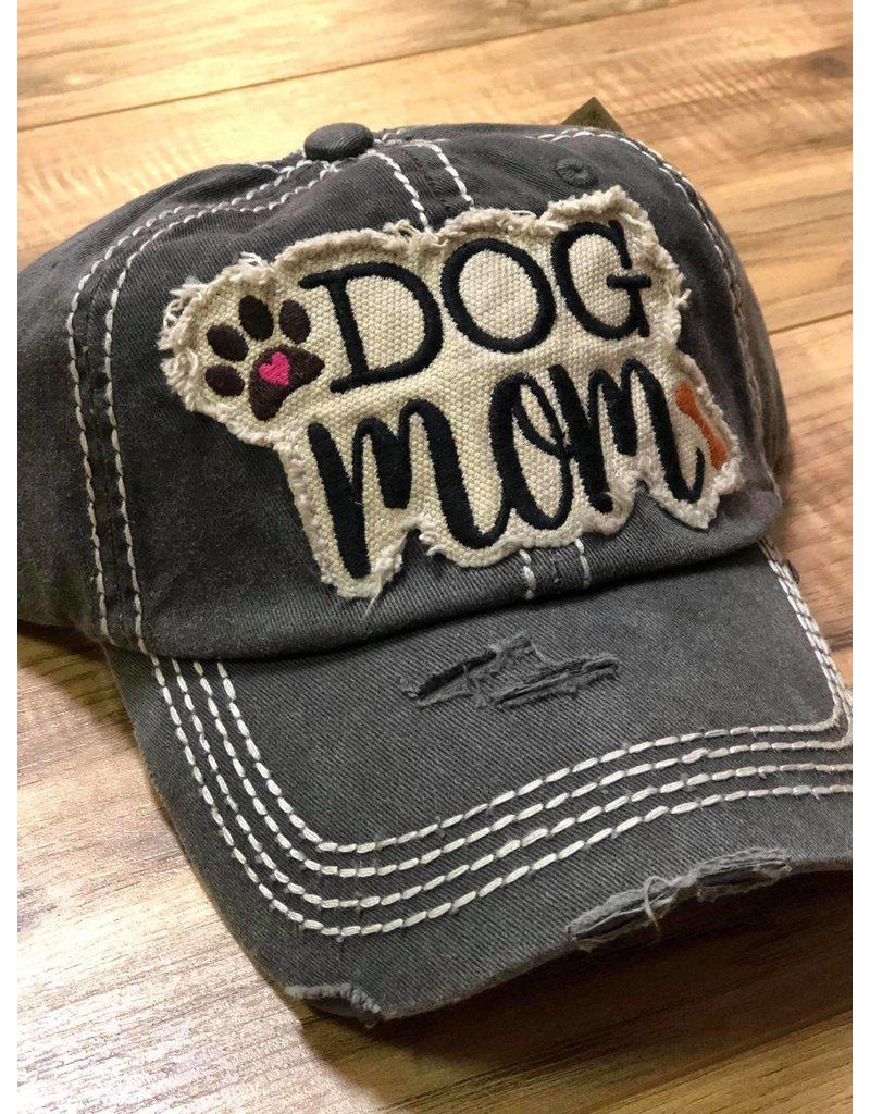 Distressed Dog Mom Cap