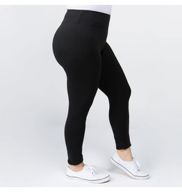 Peach Skin Ankle Leggings Plus
