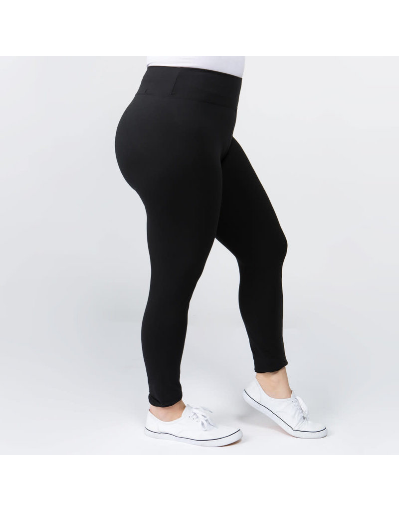 Peach Skin Ankle Leggings Plus