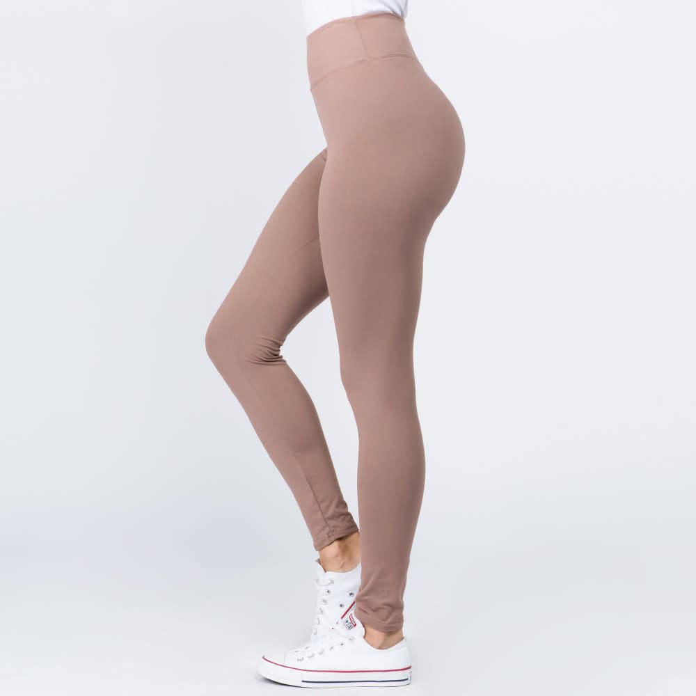 Peach Skin Ankle Leggings