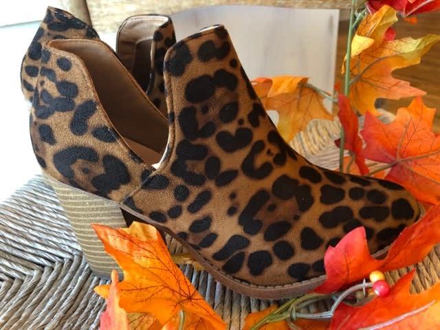 The Leopard Bootie