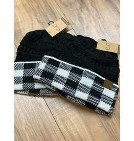 CC Buffalo Plaid Beanie