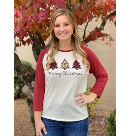 White Christmas Raglan