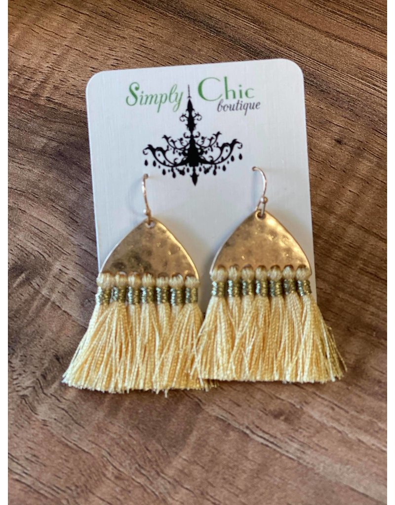 Hammered Fringe Earrings