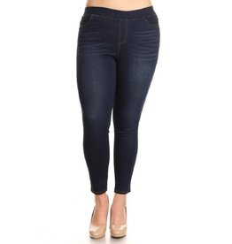 Regular Denim Jeggings Plus