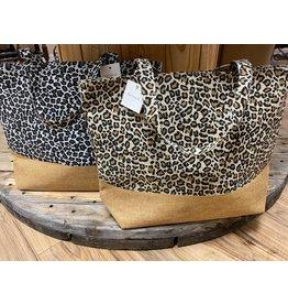 Leopard Jute Tote