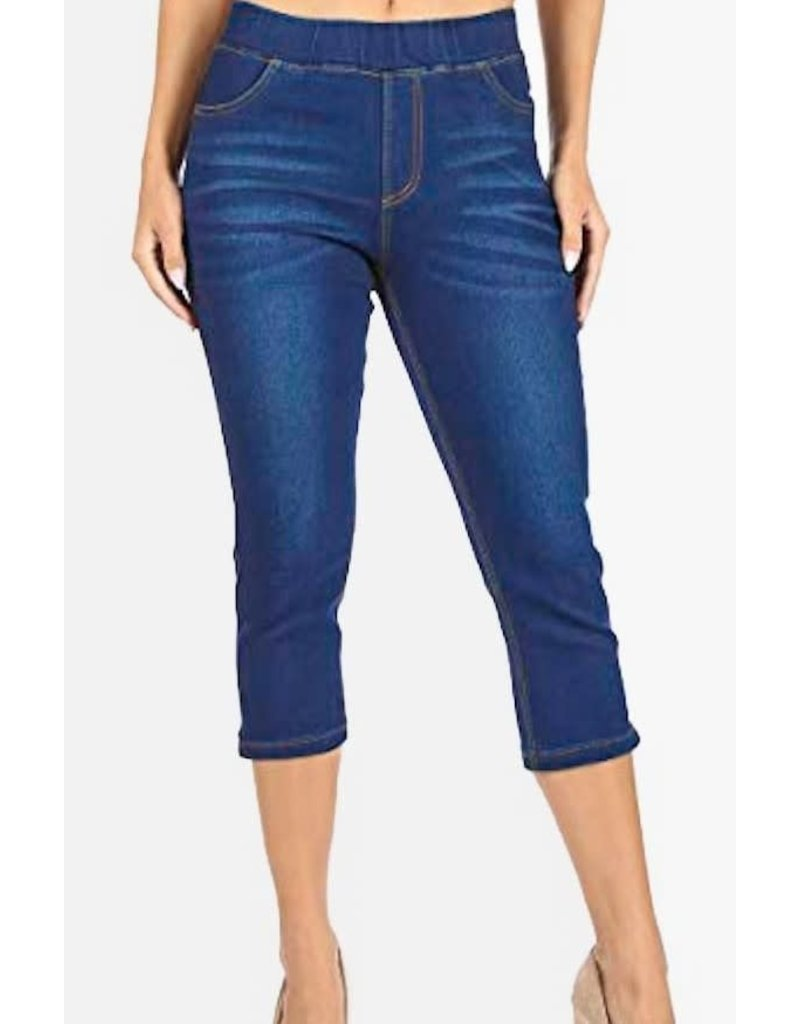 Dark Denim Capri Pants