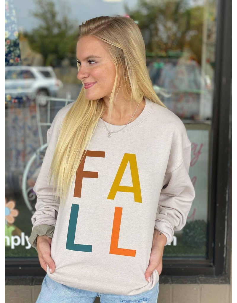 FALL multi-color Crewneck
