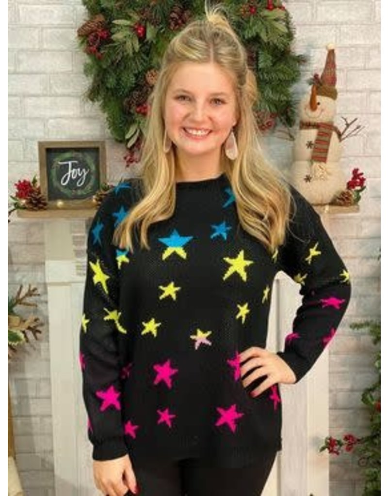 Bright Starry Night Sweater