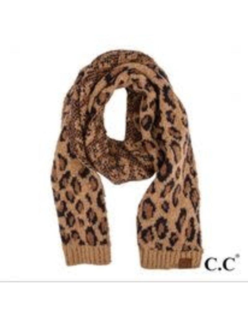 C.C. Leopard Scarf