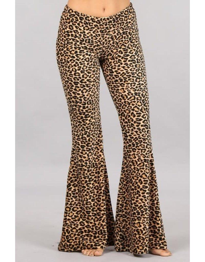 Leopard Bell Bottoms
