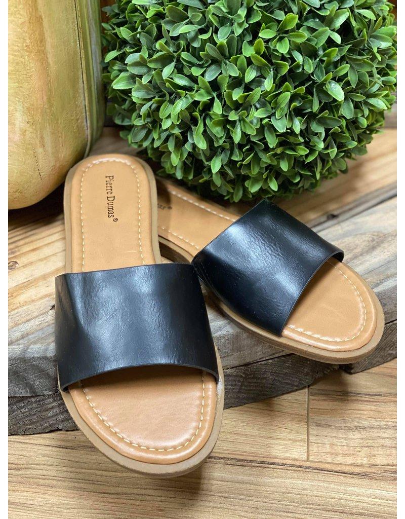 Take a Walk Sandals- Black