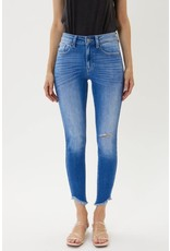 KanCan High Rise Fray Skinny