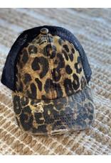 C.C. Leopard Pony Cap