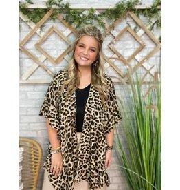 Leopard Ruffle Kimono