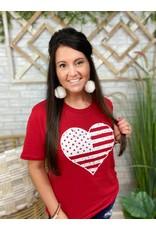 Flag Heart Tee