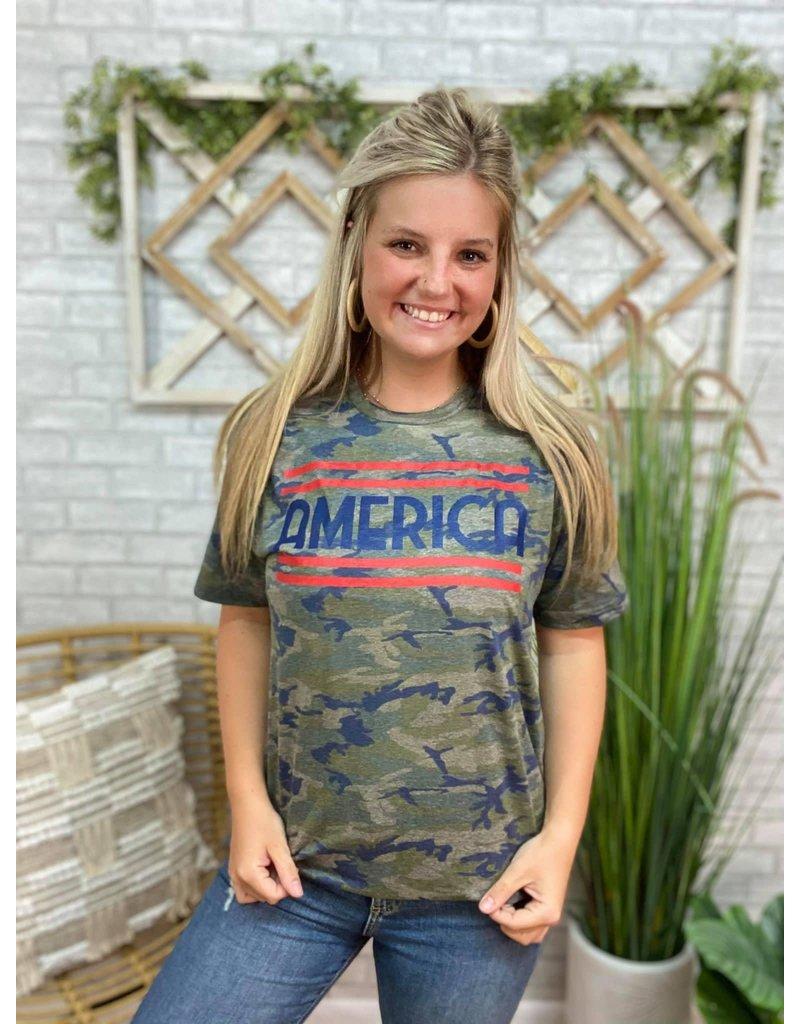 Camo America Tee
