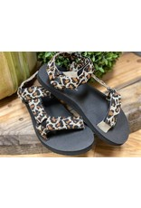 Leopard Strap Sandal