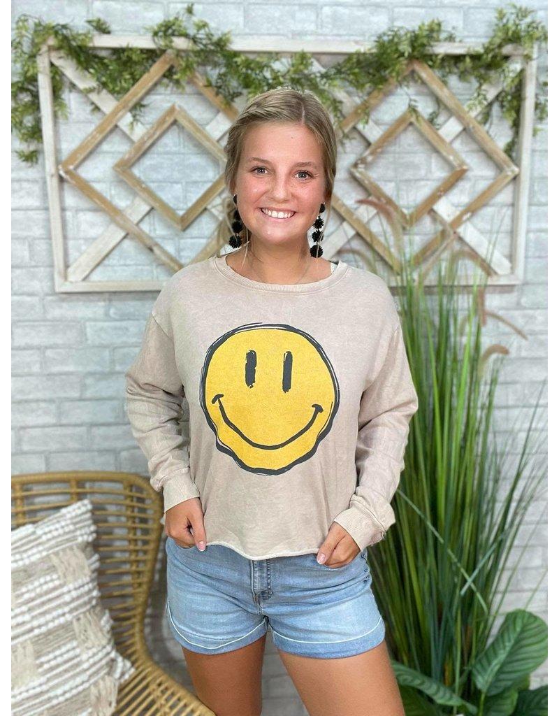 Smiley Face Crewneck
