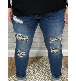 Leopard Patch Skinny Jean