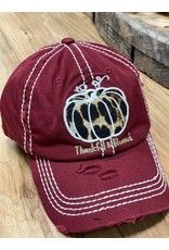 Leopard Pumpkin Ball Cap
