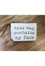Face Cosmetic Bag Wht