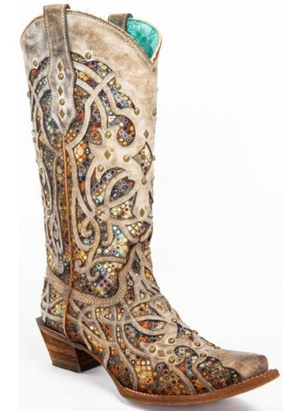 STAINED GLASS INLAY BOOTS