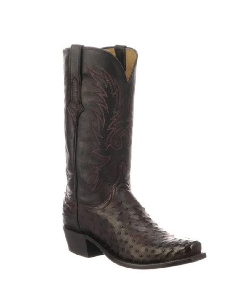 LUCCHESE LUCCHESE ELGIN FULL QUILL OSTRICH
