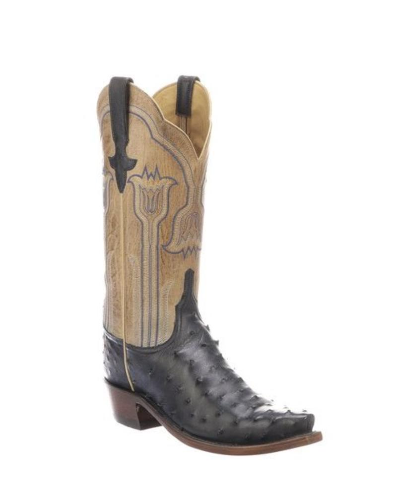 LUCCHESE MAEVE FULL QUILL  OSTRICH