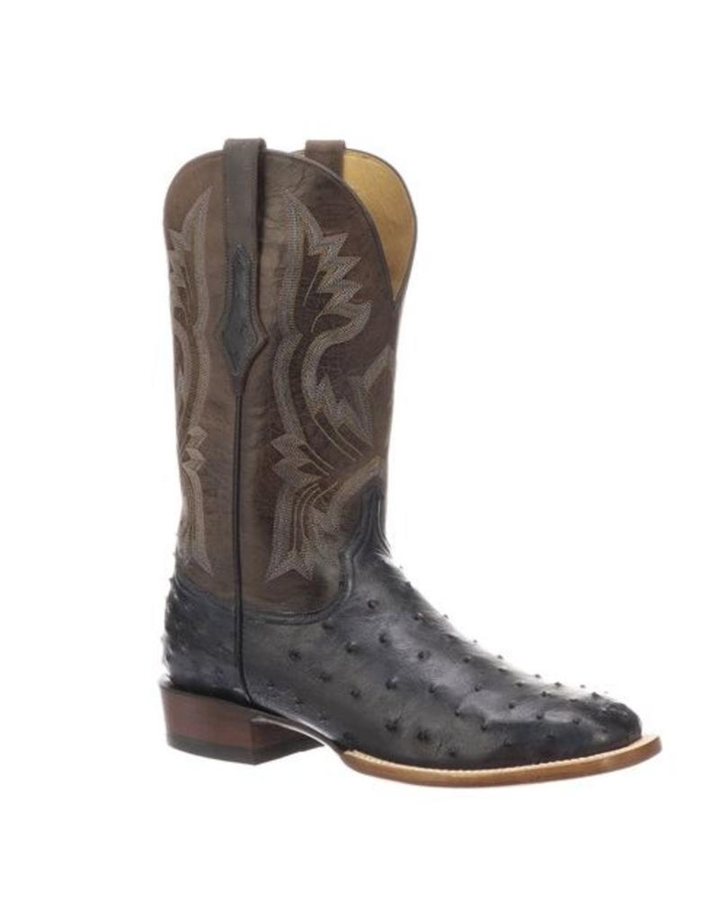 LUCCHESE CLIFF FULL QUILL OSTRICH