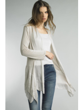 TEMPO PARIS SILK/KNIT FLYAWAY TOP