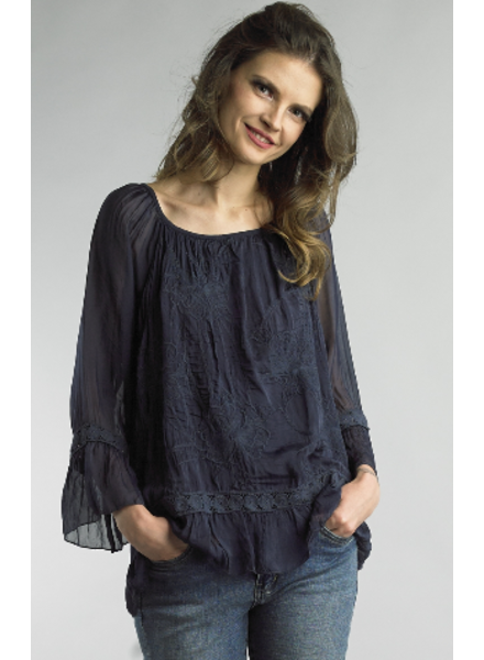 TEMPO PARIS EMBROIDERED TUNIC
