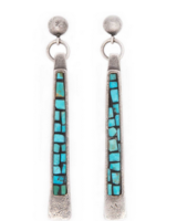 PEYOTE BIRD PRAYER STICK EARRINGS