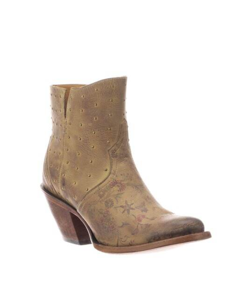 LUCCHESE HARLEY FLORAL BOOTIE