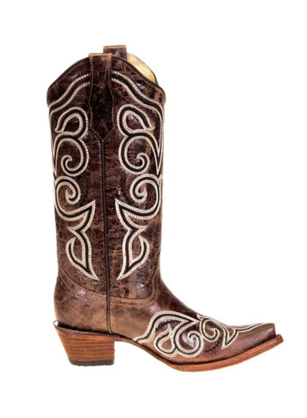 CIRCLE G EMBROIDERED BOOT