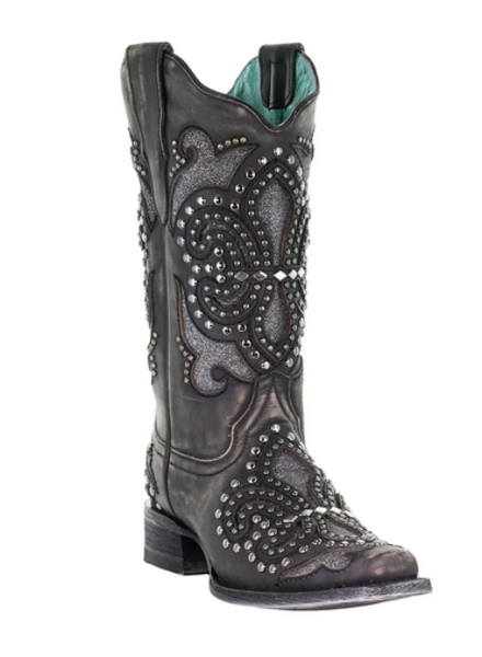 CORRAL STUDS AND GLITTER BOOT